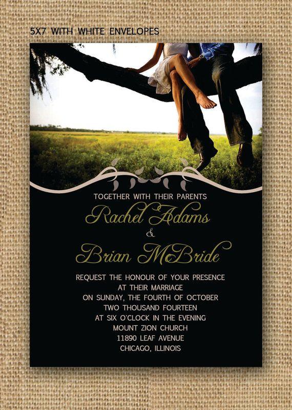 Invitaciones para boda modernas