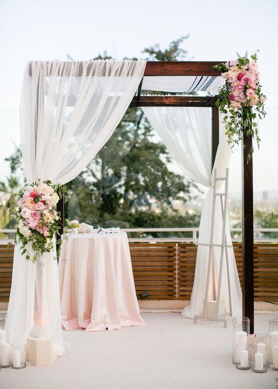 ideas para una boda civil sencilla, en casa, en jardín, sobre el mar