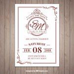 invitaciones de boda elegantes para imprimir gratis (1)
