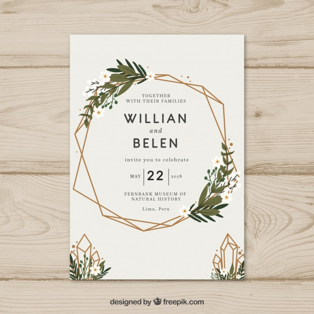 Invitation Party Wedding Free Vector Graphic On Pixabay: Invitaciones De De Boda Modernas Para El 2018