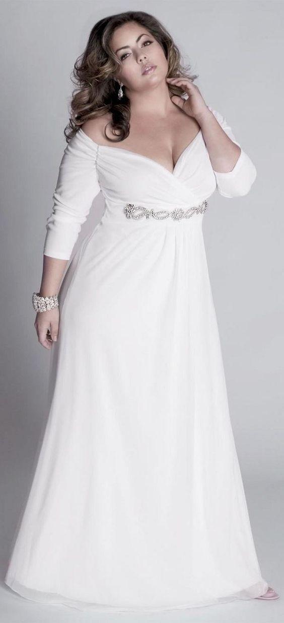 vestidos para novias gorditas 2018 para bajitas, cortos para boda