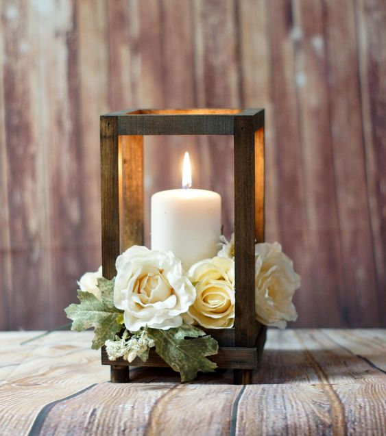 Centros de mesa para boda sencillos tendencias en bodas 2018 - Centros con velas ...