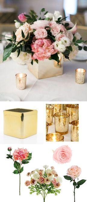arreglos florales para bodas de oro 2