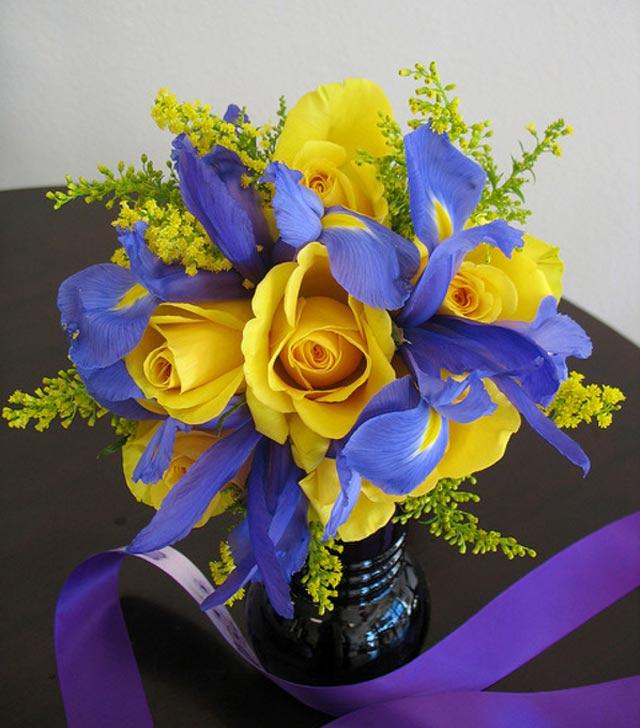 arreglos florales para bodas de oro