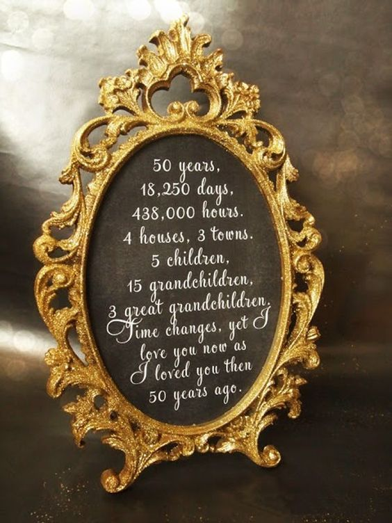 bodas de oro decoracion 2
