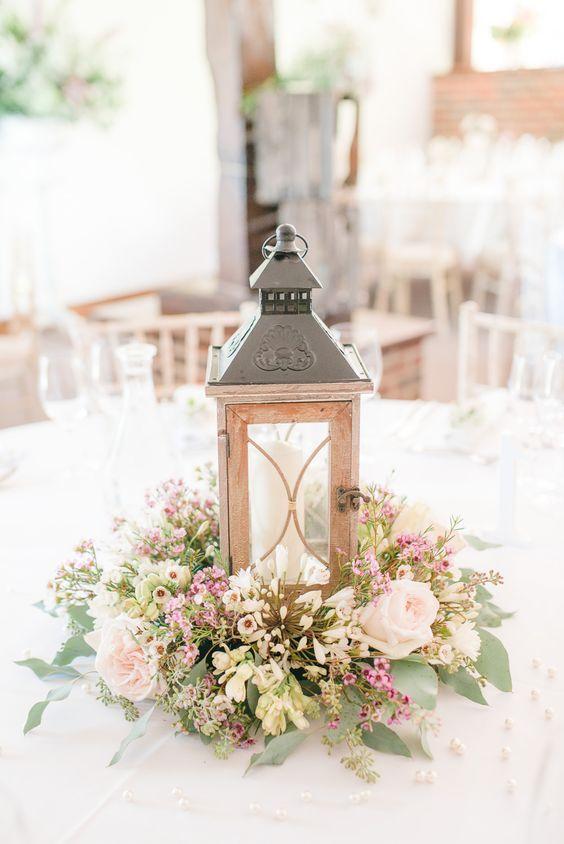 Centros de mesa para boda sencillos tendencias en bodas 2018 - Centros de mesa elegantes ...