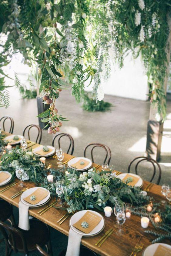 Centros de mesa para boda sencillos Alargados