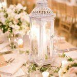 Centros de mesa para boda sencillos Faroles