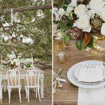 centros de mesa para bodas de oro al aire libre 2