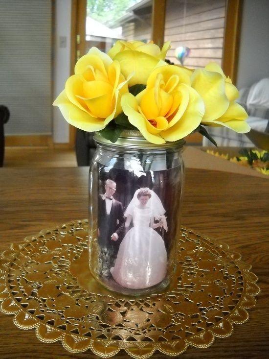 centros de mesa para bodas de oro faciles 3
