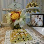 decoracion de boda de oro en casa