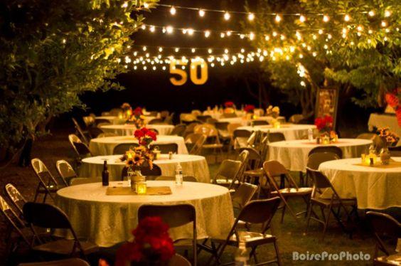 50 Aniversario De Bodas Decoración En Casa Para Salones De Eventos