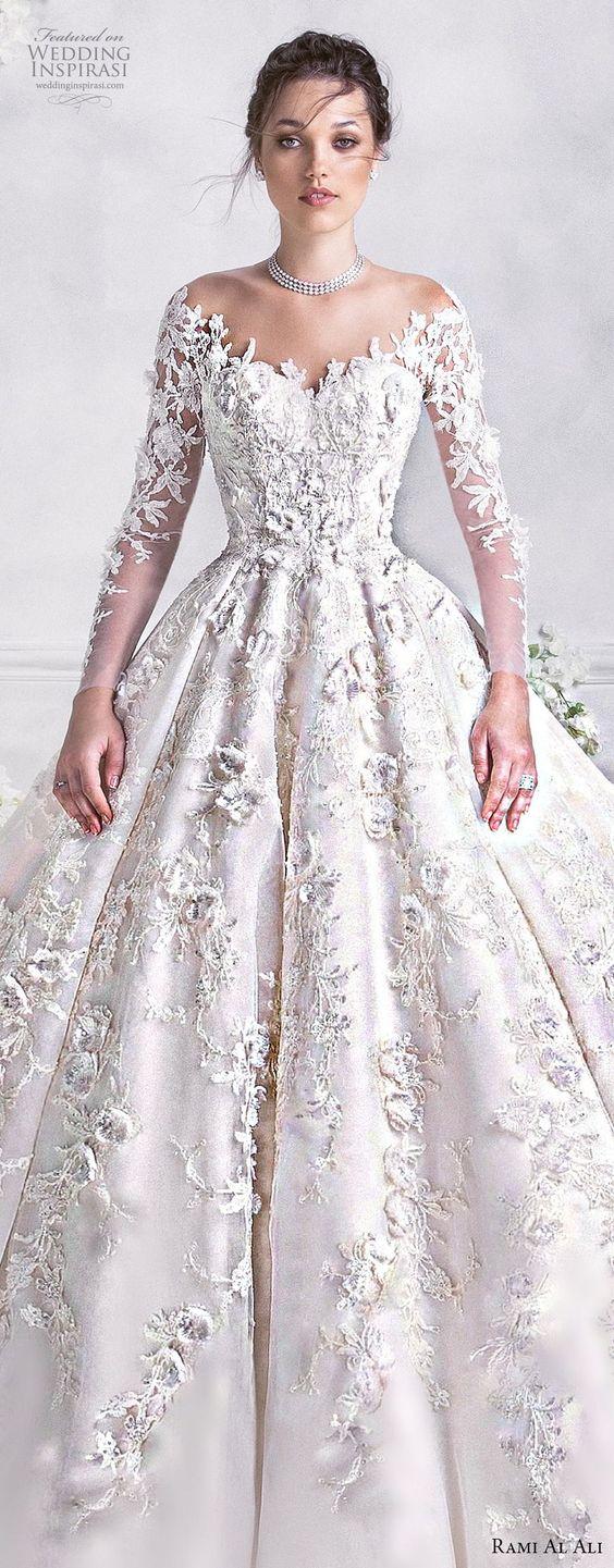 vestidos de novia ampones con encaje (2)