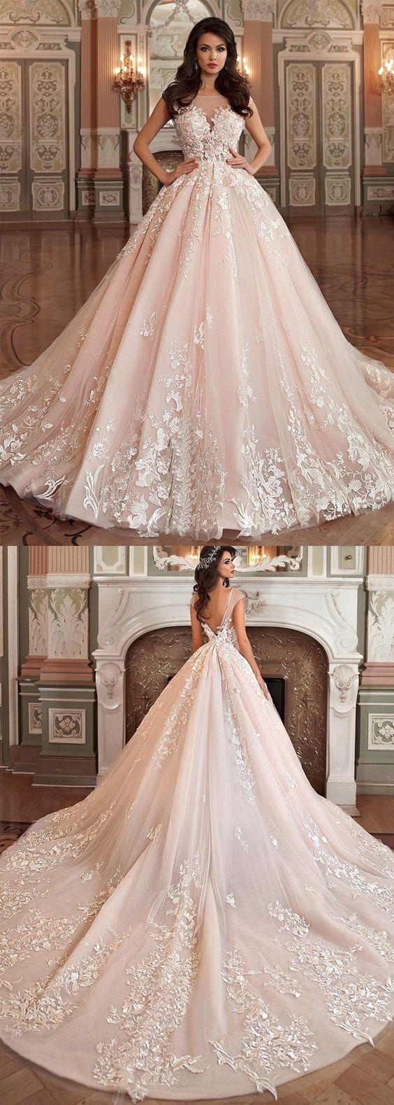 vestidos de novia ampones con encaje (3)