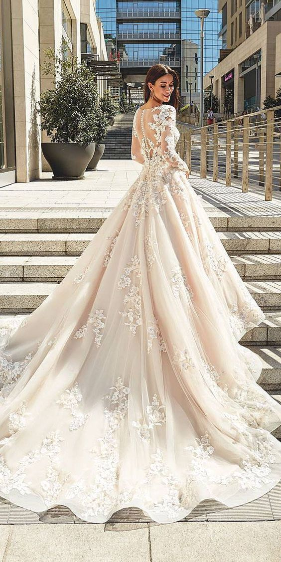 vestidos de novia ampones con encaje (4)