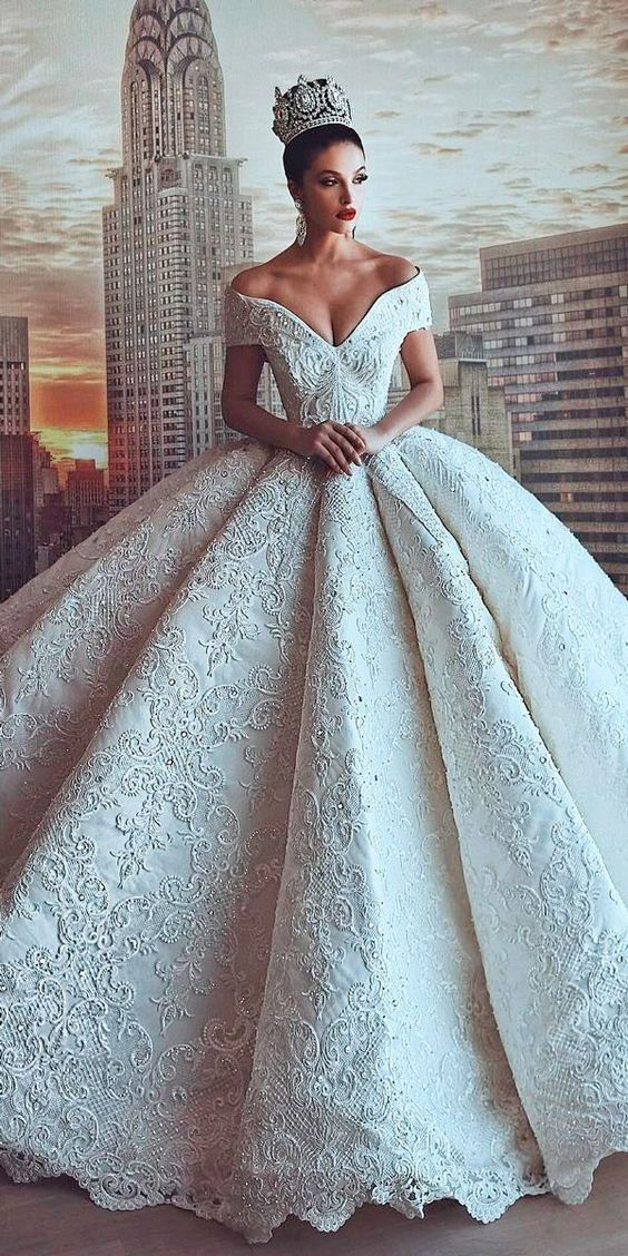 vestidos de novia ampones con encaje (5)