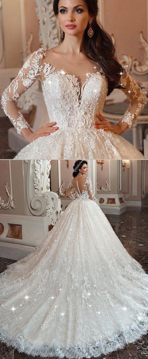 vestidos de novia ampones con encaje (7)