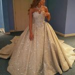 Vestidos de novia ampones con pedrería