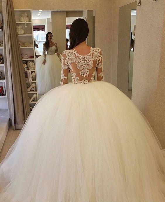 Vestidos de novia corte princesa ampon