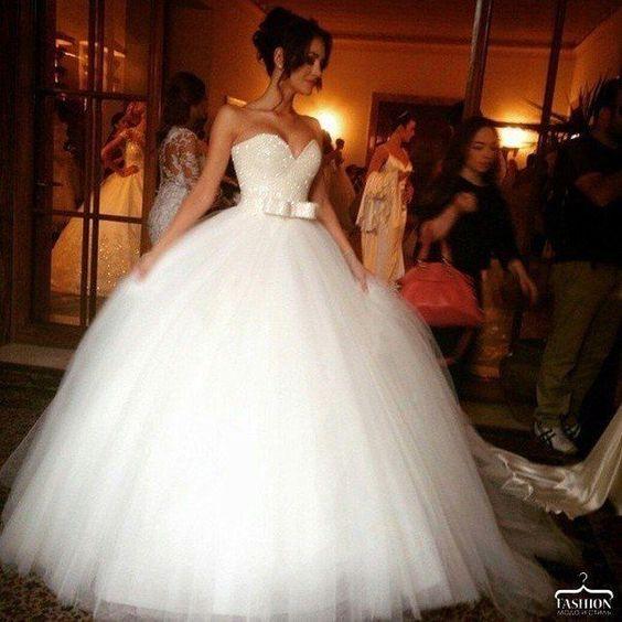 Vestidos de novia ampones de tul
