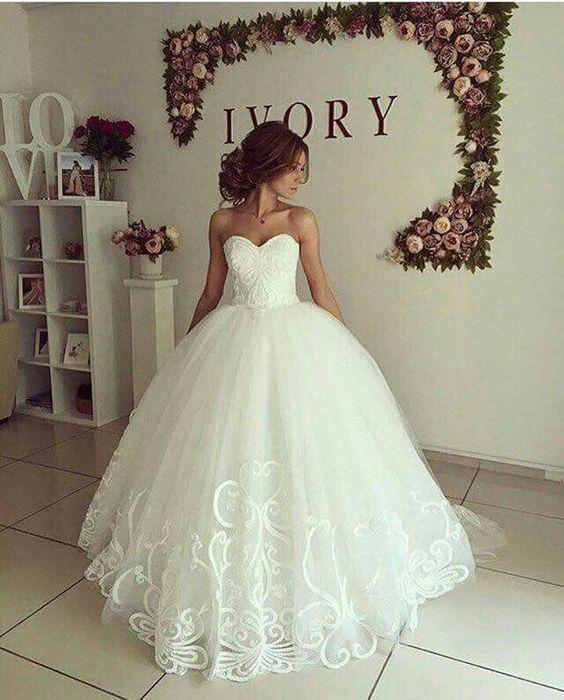 Vestidos corte princesa boda