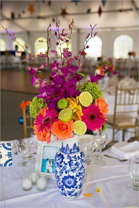 Centros de mesa para una boda estilo mexicano