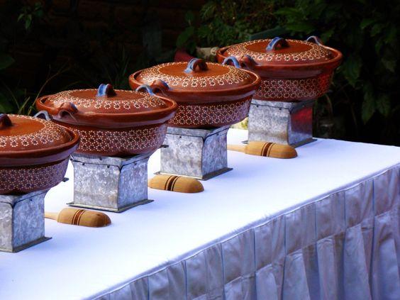 Comida para una boda estilo mexicano