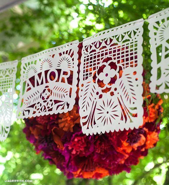 Decoracion para boda estilo mexicano