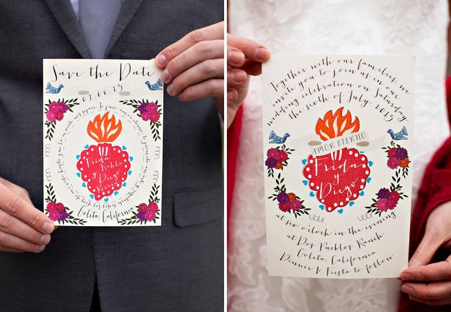 Invitaciones para una boda estilo mexicano
