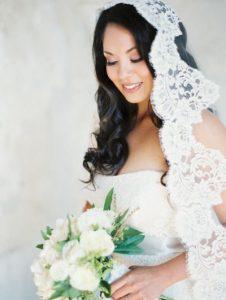 Velos de novia con encaje