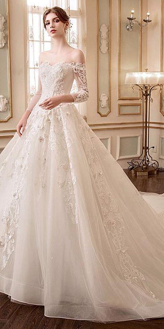 vestidos de novias para bodas en invierno 2018 | tendencias para el