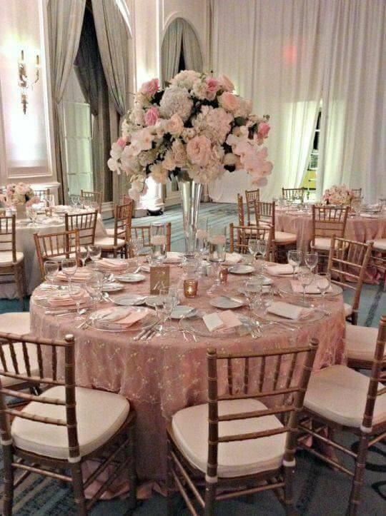 boda en tonos rosa gold en tendencia este 2019