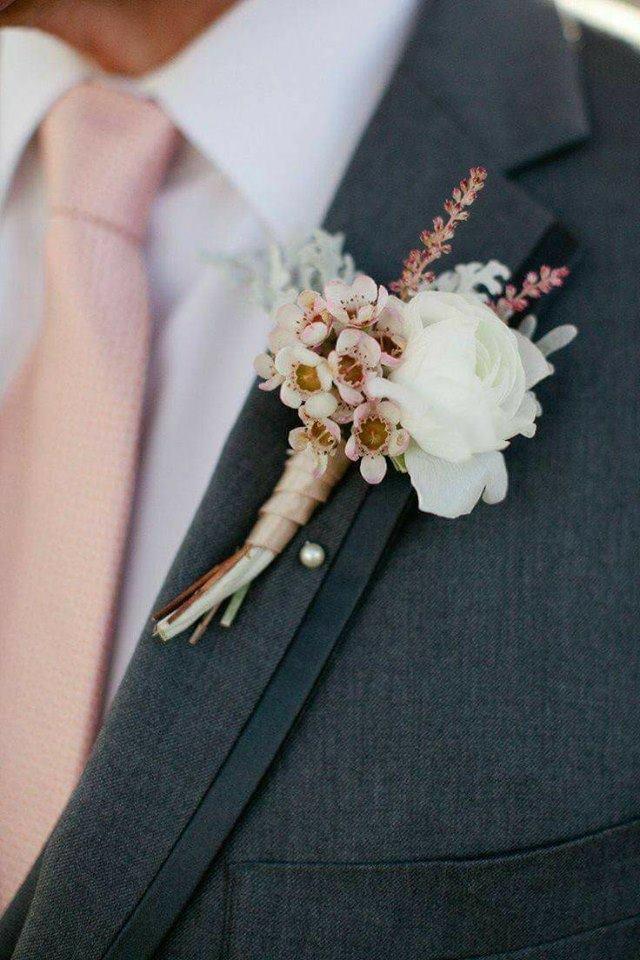 traje de novio para boda rosa gold