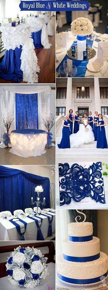 ideas para bodas azul rey y plateado