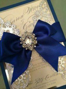 invitaciones para bodas azul rey