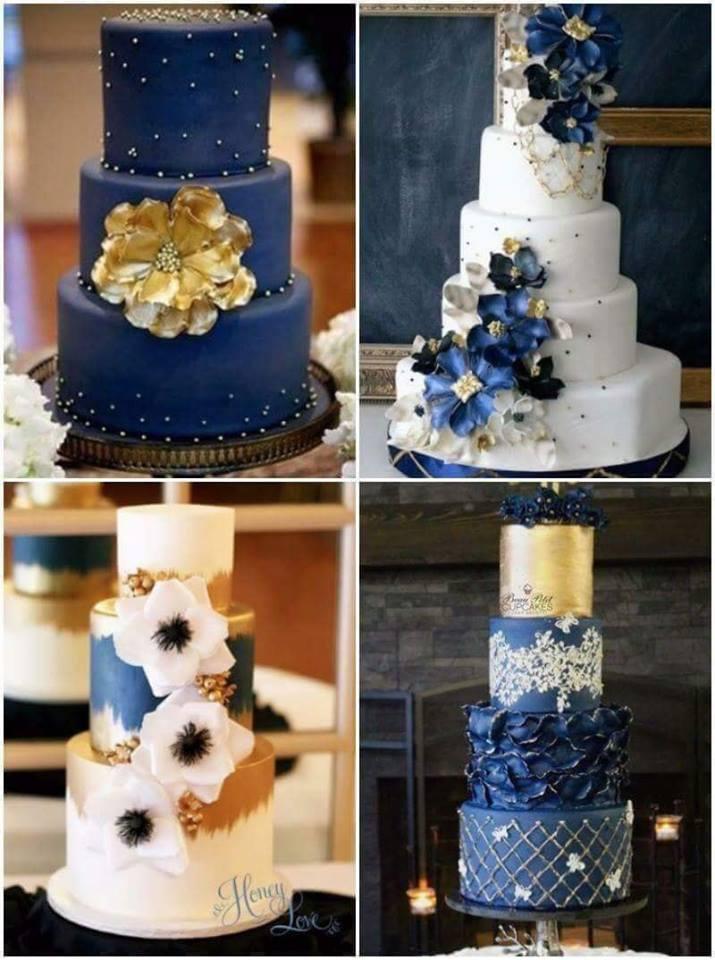pasteles para bodas azul rey