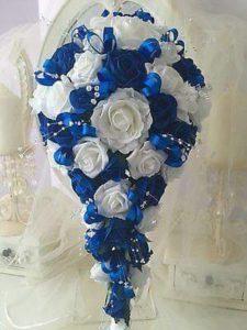 ramos para novias de bodas azul rey