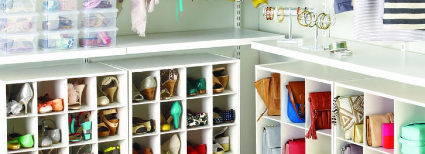 How to organize purses and shoes