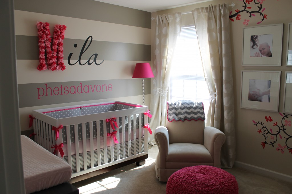 Baby Nursery Decor Gray And Pink 5 How To Organize