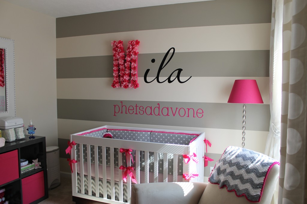 Baby Nursery Decor Gray Pink Beige 2 How To Organize
