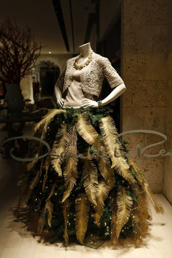Christmas Trees Made From Dress Forms How To Organize