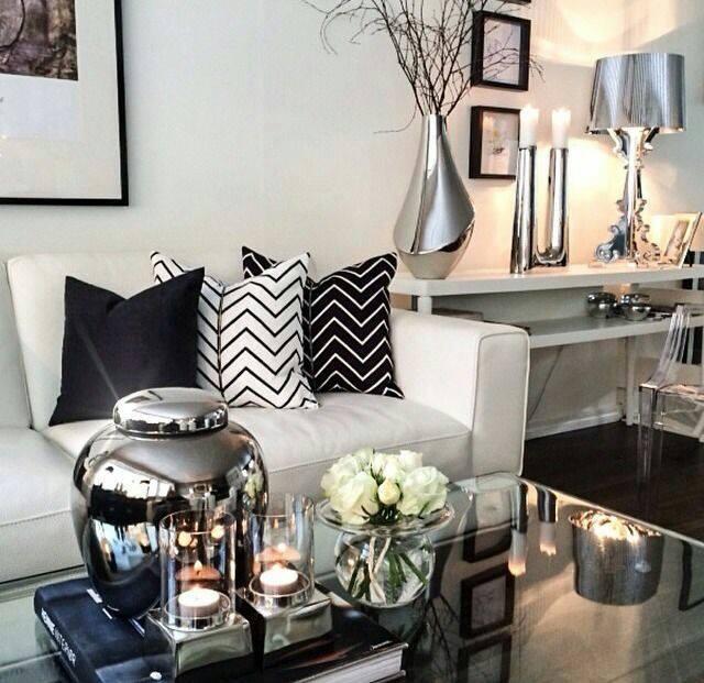 black white living room decor 28