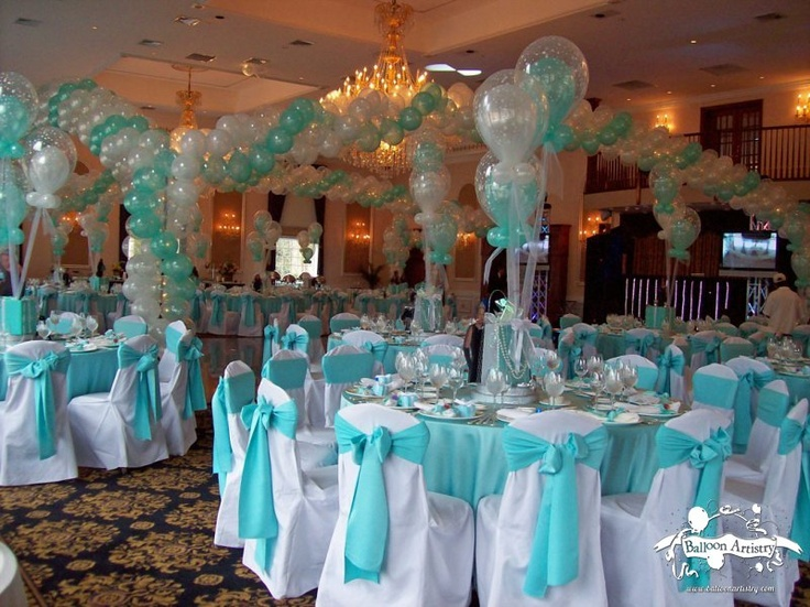 Blue quinceanera decorations ideas 11 how to organize for Balloon decoration ideas for quinceaneras