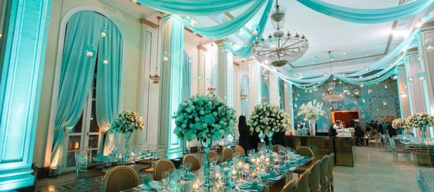 blue quinceanera decorations ideas