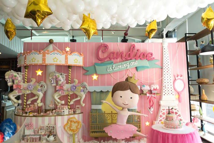 Paris Ballerina Birthday Party Decor Ideas