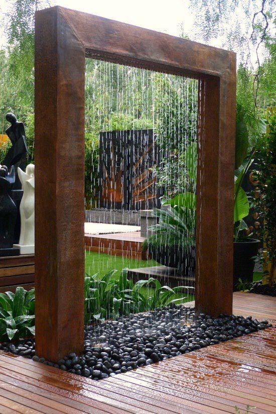 waterfall garden diy