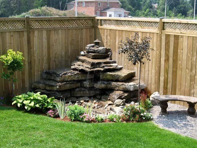 Waterfall garden diy 7 how to organize for Build backyard water garden