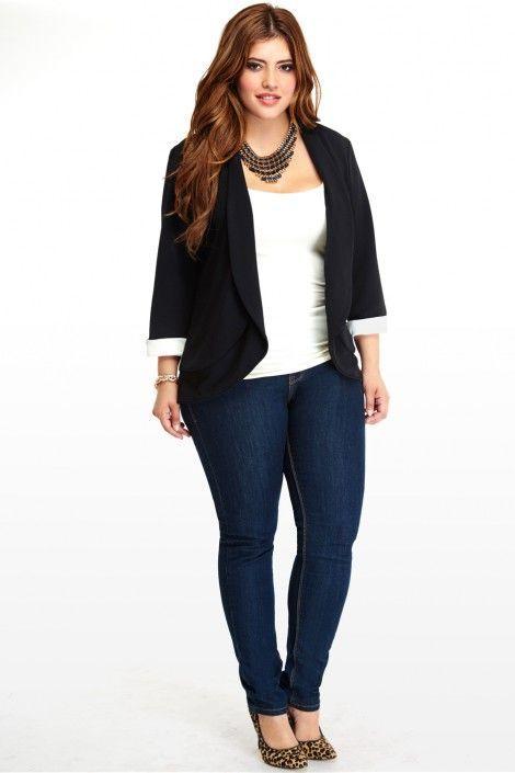 8eea9edbfd5 Jeans plus size outfits (11)
