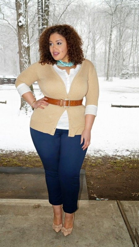 ebc618082bd Jeans plus size outfits (21) | How to organize