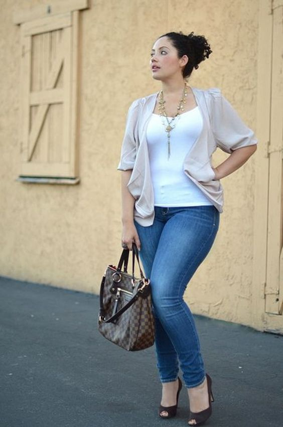 Jeans plus size outfits